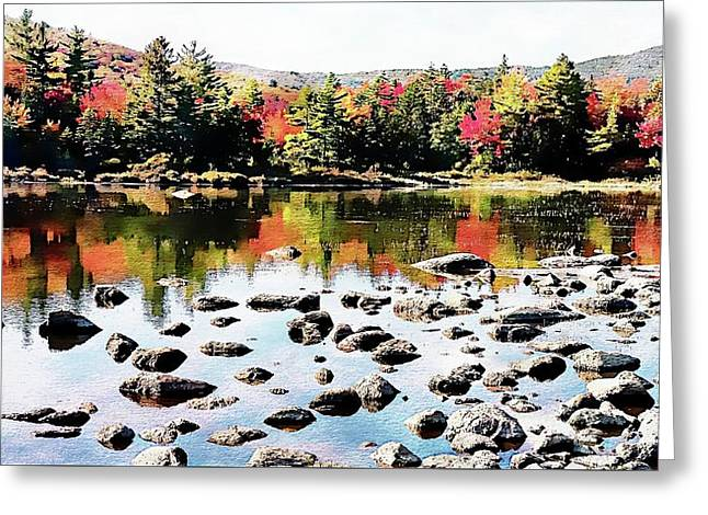Greeting Card featuring the photograph Lily Pond, Kancamagus Highway - New Hampshire  by Joseph Hendrix