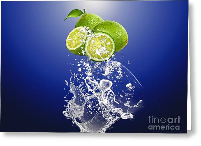 Lime Splash Greeting Card