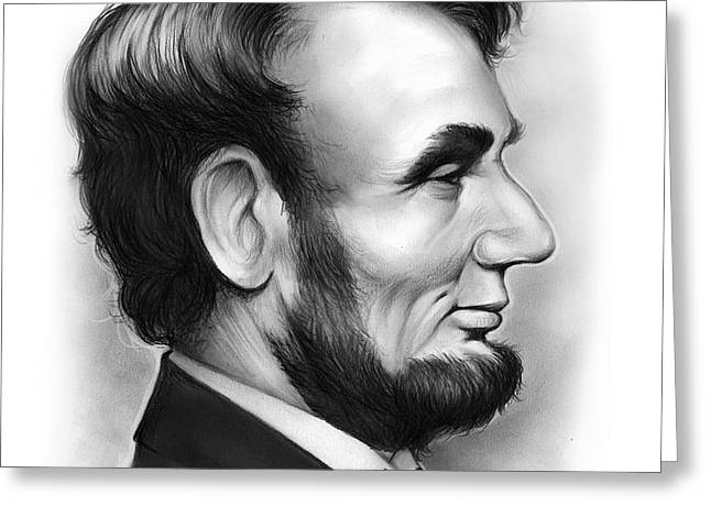 Lincoln Greeting Card by Greg Joens