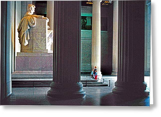 Lincoln Memorial Greeting Card by Dennis Cox
