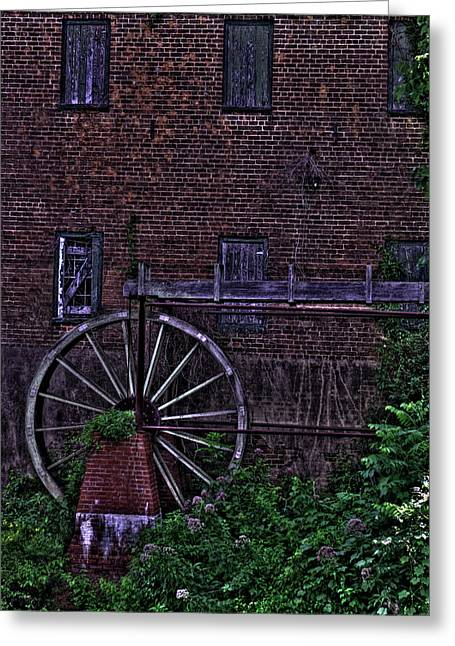 Lindale Grist Mill Greeting Card by Jason Blalock