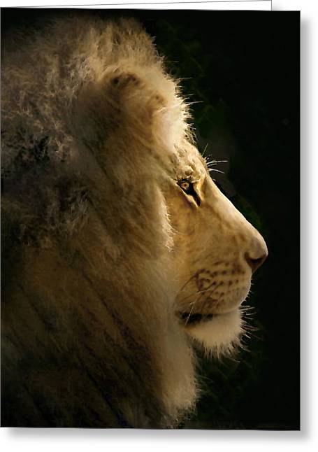 Lion Of Judah II Greeting Card by Sharon Foster
