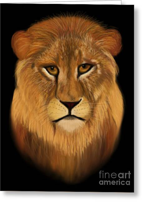 Lion - The King Of The Jungle Greeting Card
