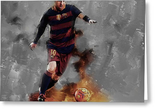 Lionel Messi  Greeting Card by Gull G
