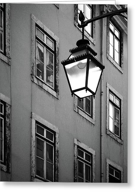 Lisbon Street Lamp Greeting Card