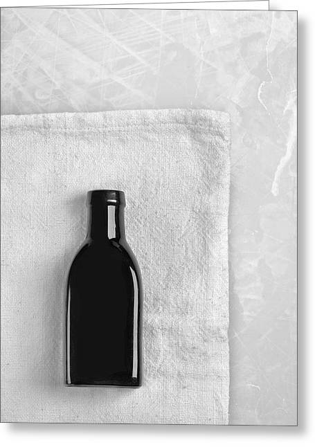 Greeting Card featuring the photograph Little Black Bottle  by Andrey  Godyaykin