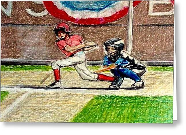 Little League Greeting Card by Kimberly Simon