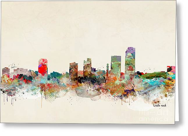Greeting Card featuring the painting Little Rock Arkansas by Bri B