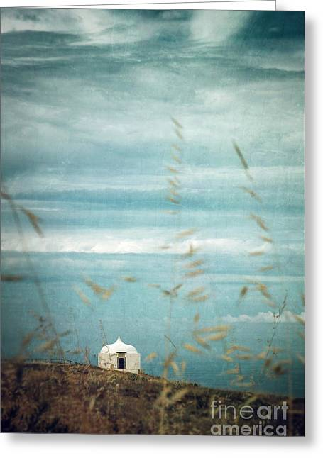 Little White Chapel  Greeting Card by Carlos Caetano