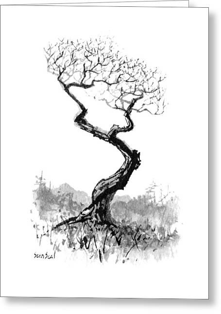 Little Zen Tree 1820 Greeting Card