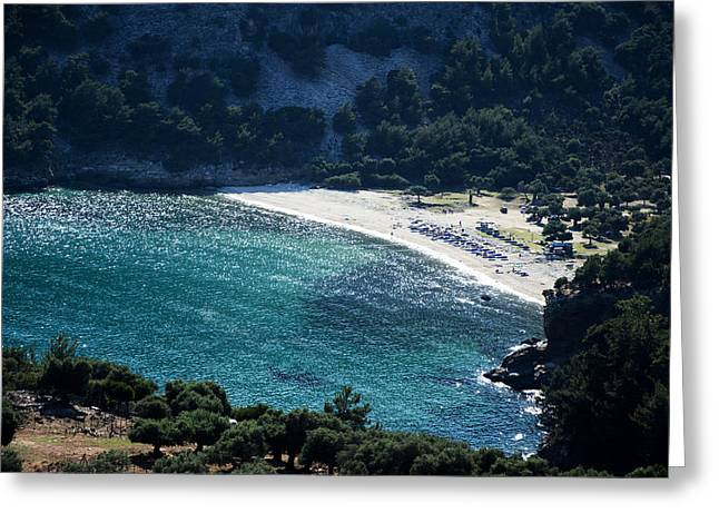 Livadi Beach On Thassos Island Greeting Card by Newnow Photography By Vera Cepic
