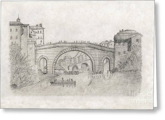 Liverpool Bridge Greeting Card