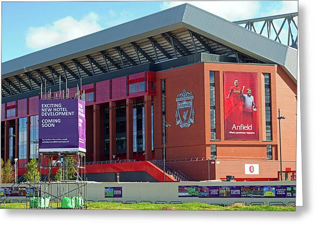Liverpool Uk, 17th September 2016. Liverpool Football Club's New 114 Million Stand Nearing Completion Greeting Card