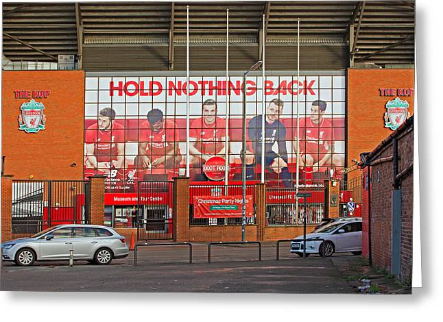 Liverpool Uk January 8th 2016. The Kop Entrance To Liverpool Foo Greeting Card