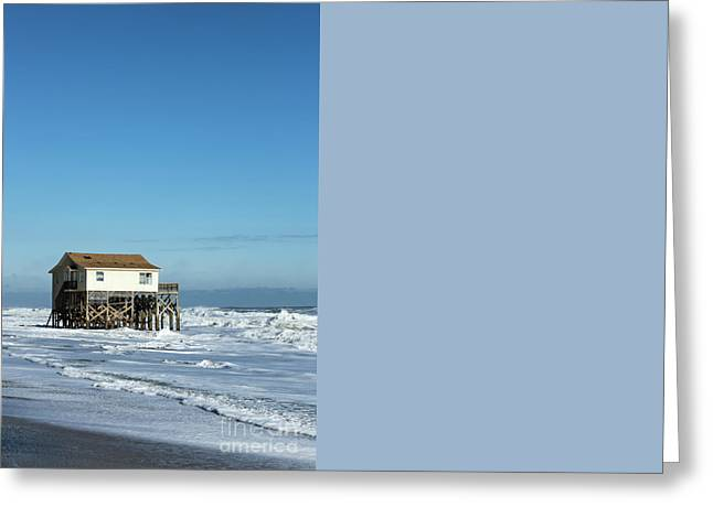 Outer Banks Beach House Greeting Card by John Greim