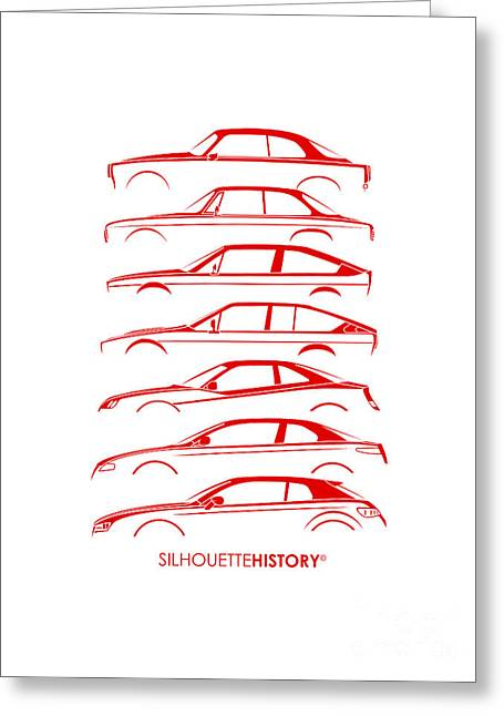 Lombard Coupe Silhouettehistory Greeting Card