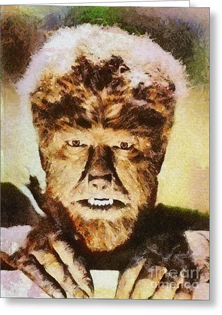 Lon Chaney Jr, As The Wolfman Greeting Card