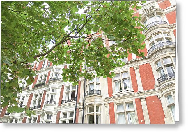 London Building Exterior Greeting Card by Tom Gowanlock