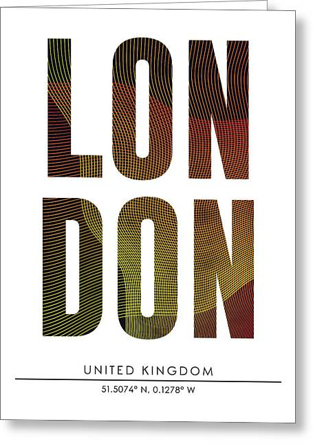 London City Print With Coordinates Greeting Card