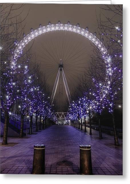 London Eye Greeting Card by Lee-Anne Rafferty-Evans