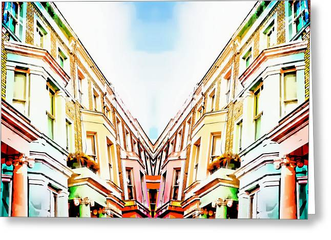 London Houses Greeting Card