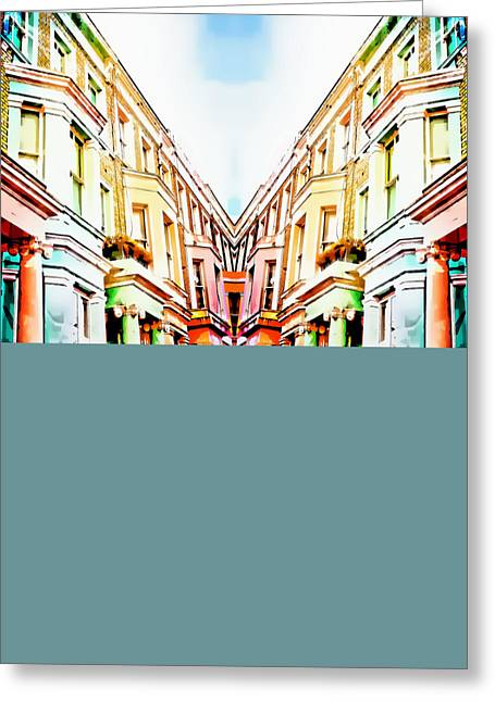 London Houses Greeting Card by Tom Gowanlock