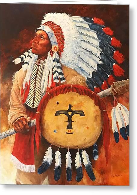 Lone Elk, Sioux Chief Greeting Card