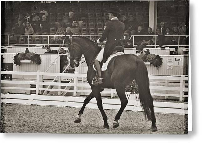 Greeting Card featuring the photograph Long Clean Line by Dressage Design