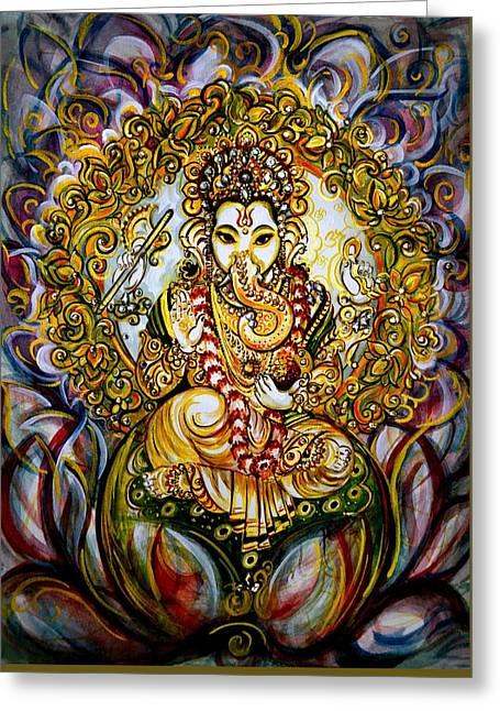 Lord Ganesha Greeting Card by Harsh Malik