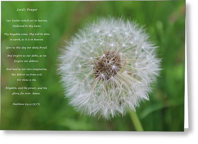 Lord's Prayer Greeting Card