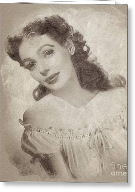 Loretta Young, Actress Greeting Card