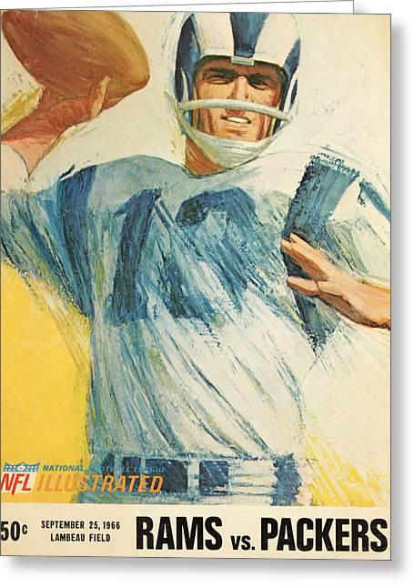 Los Angeles Rams Vintage Program Greeting Card