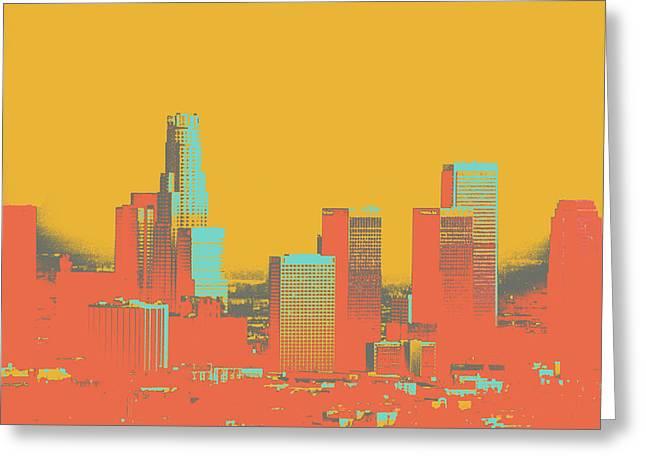 Los Angeles Greeting Card by Shay Culligan