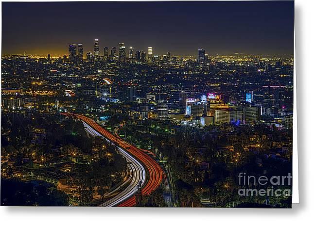 Los Angeles Sunrise Greeting Card