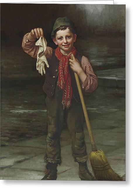 Lost And Found Greeting Card by John George Brown