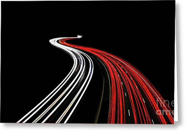 Lost Highway Greeting Card by Evelina Kremsdorf