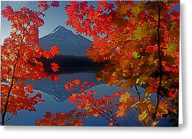 Lost Lake Autumn Greeting Card