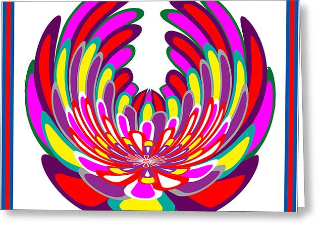 Lotus Flower Stunning Colors Abstract  Artistic Presentation By Navinjoshi Greeting Card