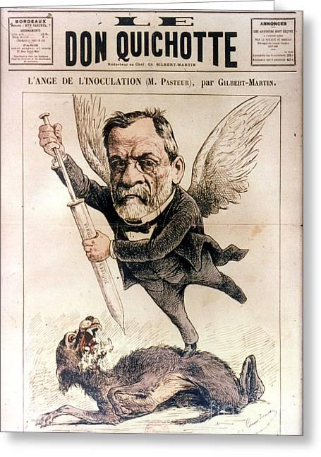 Louis Pasteur (1822-1895) Greeting Card by Granger