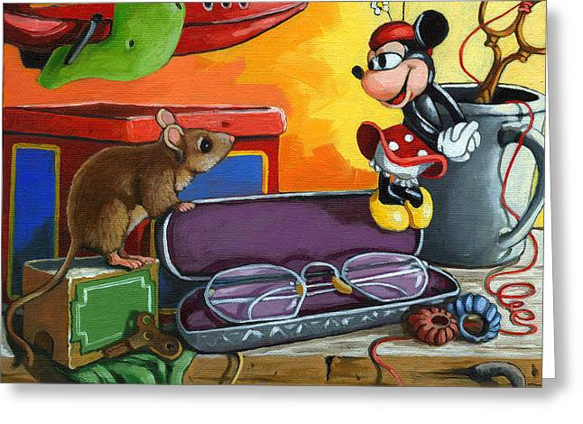 Love In The Attic -still Life Painting Greeting Card by Linda Apple