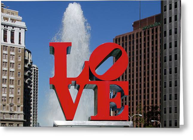 Love - Philadelphia Greeting Card by Bill Cannon