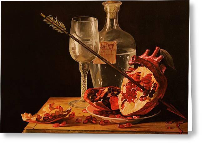 Love Slowly Kills Greeting Card by Adrian Borda