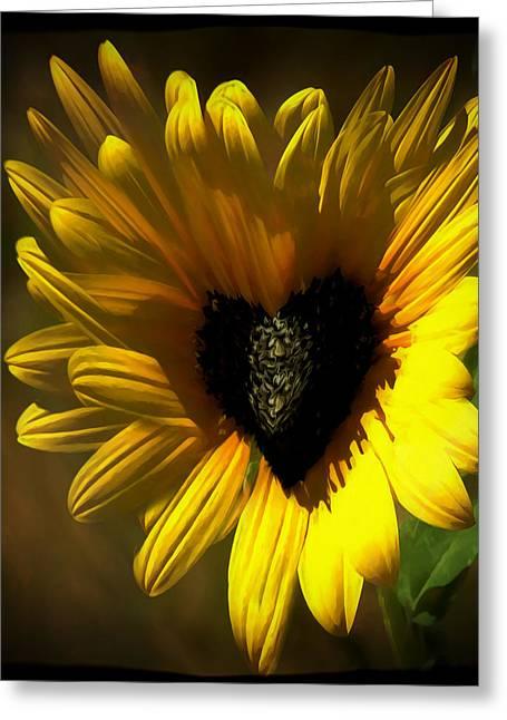 Love Sunflower Greeting Card