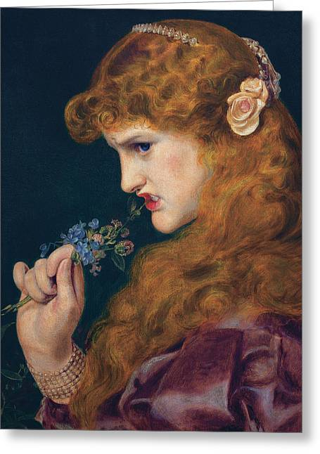 Love's Shadow Greeting Card by Frederick Sandys