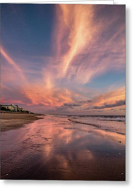 Greeting Card featuring the photograph Low Tide Mirror by Debra and Dave Vanderlaan