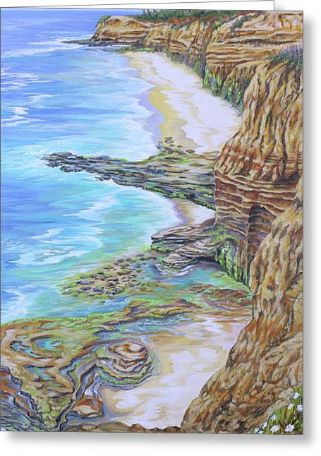 Low Tide Sunset Cliffs Greeting Card