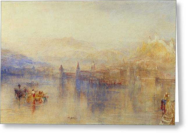 Lucerne From The Lake Greeting Card by JMW Turner