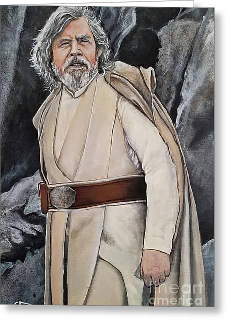 Luke Skywalker Greeting Card by Tom Carlton