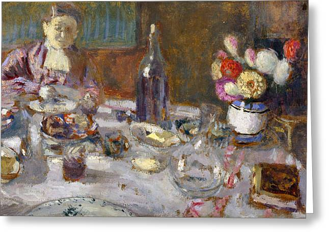 Luncheon Greeting Card by Edouard Vuillard