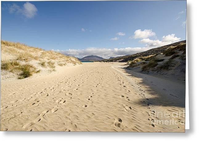 Luskentyre Beach Greeting Card by Nichola Denny